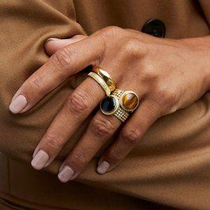 Anna Beck   Tiger's Eye Cocktail Ring